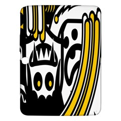 Easter Monster Sinister Happy Magic Rock Mask Face Polka Yellow Samsung Galaxy Tab 3 (10 1 ) P5200 Hardshell Case