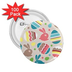 Easter Rabbit Bunny Rainbow 2.25  Buttons (100 pack)
