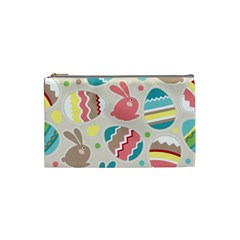Easter Rabbit Bunny Rainbow Cosmetic Bag (Small)