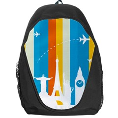 Eiffel Tower Monument Statue Of Liberty Backpack Bag