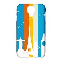 Eiffel Tower Monument Statue Of Liberty Samsung Galaxy S4 Classic Hardshell Case (pc+silicone)