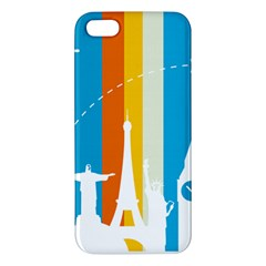 Eiffel Tower Monument Statue Of Liberty iPhone 5S/ SE Premium Hardshell Case