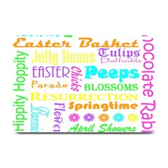 Easter Subway Blossoms Color Rainbow Chocolate Plate Mats