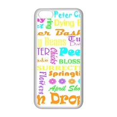 Easter Subway Blossoms Color Rainbow Chocolate Apple iPhone 5C Seamless Case (White)