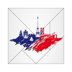 Eiffel Tower Monument Statue Of Liberty France England Red Blue Acrylic Tangram Puzzle (6  x 6 )