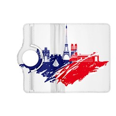 Eiffel Tower Monument Statue Of Liberty France England Red Blue Kindle Fire Hd (2013) Flip 360 Case