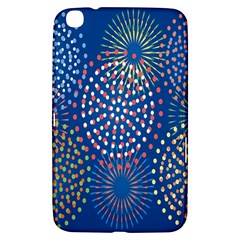 Fireworks Party Blue Fire Happy Samsung Galaxy Tab 3 (8 ) T3100 Hardshell Case