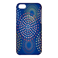 Fireworks Party Blue Fire Happy Apple Iphone 5c Hardshell Case
