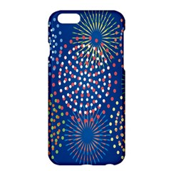 Fireworks Party Blue Fire Happy Apple iPhone 6 Plus/6S Plus Hardshell Case