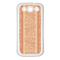 Flower Floral Leaf Frame Star Brown Samsung Galaxy S3 Back Case (White)