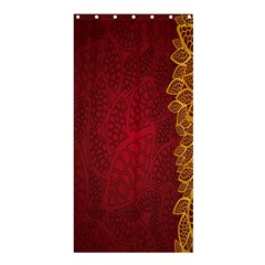 Floral Flower Golden Red Leaf Shower Curtain 36  x 72  (Stall)