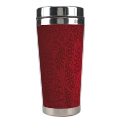 Floral Flower Golden Red Leaf Stainless Steel Travel Tumblers