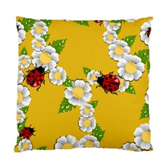 Flower Floral Sunflower Butterfly Red Yellow White Green Leaf Standard Cushion Case (One Side)