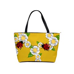 Flower Floral Sunflower Butterfly Red Yellow White Green Leaf Shoulder Handbags