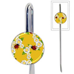Flower Floral Sunflower Butterfly Red Yellow White Green Leaf Book Mark