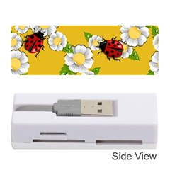 Flower Floral Sunflower Butterfly Red Yellow White Green Leaf Memory Card Reader (Stick)