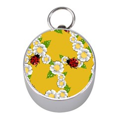 Flower Floral Sunflower Butterfly Red Yellow White Green Leaf Mini Silver Compasses