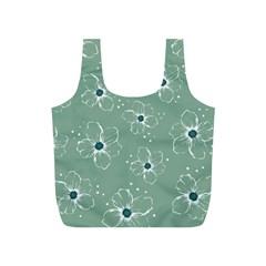 Flower Floral Sakura Sunflower Rose Blue Full Print Recycle Bags (S)