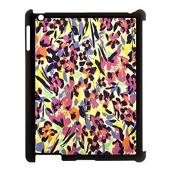 French Crepe Colour Pink Apple Ipad 3/4 Case (black)