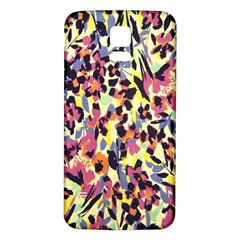 French Crepe Colour Pink Samsung Galaxy S5 Back Case (White)