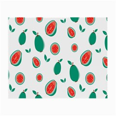 Fruit Green Red Guavas Leaf Small Glasses Cloth (2 Side)