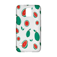 Fruit Green Red Guavas Leaf Samsung Galaxy S5 Hardshell Case