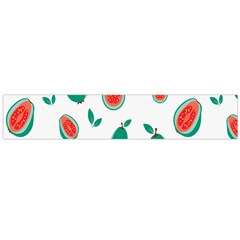 Fruit Green Red Guavas Leaf Flano Scarf (Large)