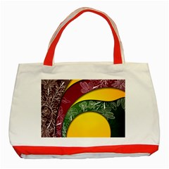Flower Floral Leaf Star Sunflower Green Red Yellow Brown Sexxy Classic Tote Bag (red)