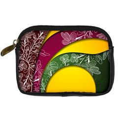 Flower Floral Leaf Star Sunflower Green Red Yellow Brown Sexxy Digital Camera Cases
