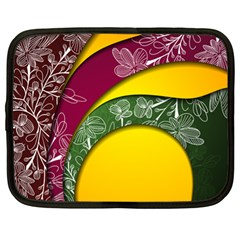 Flower Floral Leaf Star Sunflower Green Red Yellow Brown Sexxy Netbook Case (xl)