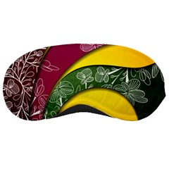 Flower Floral Leaf Star Sunflower Green Red Yellow Brown Sexxy Sleeping Masks