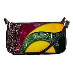 Flower Floral Leaf Star Sunflower Green Red Yellow Brown Sexxy Shoulder Clutch Bags