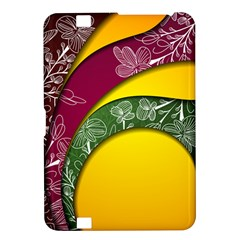 Flower Floral Leaf Star Sunflower Green Red Yellow Brown Sexxy Kindle Fire HD 8.9