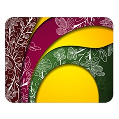 Flower Floral Leaf Star Sunflower Green Red Yellow Brown Sexxy Double Sided Flano Blanket (large)