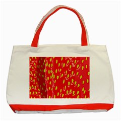 Fruit Seed Strawberries Red Yellow Frees Classic Tote Bag (red)