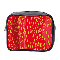 Fruit Seed Strawberries Red Yellow Frees Mini Toiletries Bag 2-Side