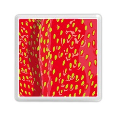 Fruit Seed Strawberries Red Yellow Frees Memory Card Reader (Square)