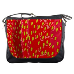 Fruit Seed Strawberries Red Yellow Frees Messenger Bags