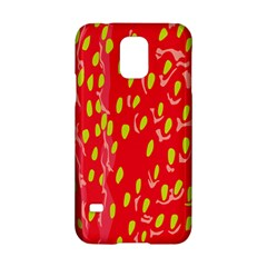 Fruit Seed Strawberries Red Yellow Frees Samsung Galaxy S5 Hardshell Case