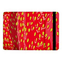 Fruit Seed Strawberries Red Yellow Frees Samsung Galaxy Tab Pro 10 1  Flip Case