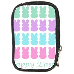Happy Easter Rabbit Color Green Purple Blue Pink Compact Camera Cases