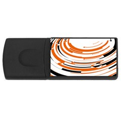 Hole Black Orange Arrow USB Flash Drive Rectangular (1 GB)