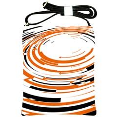 Hole Black Orange Arrow Shoulder Sling Bags