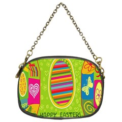 Happy Easter Butterfly Love Flower Floral Color Rainbow Chain Purses (Two Sides)