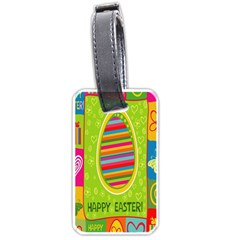 Happy Easter Butterfly Love Flower Floral Color Rainbow Luggage Tags (Two Sides)