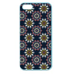 Floral Flower Star Blue Apple Seamless iPhone 5 Case (Color)