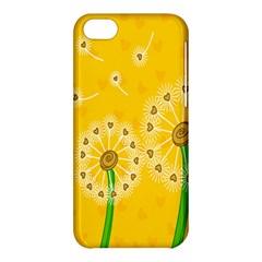Leaf Flower Floral Sakura Love Heart Yellow Orange White Green Apple Iphone 5c Hardshell Case