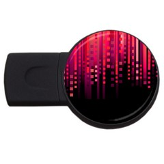 Line Vertical Plaid Light Black Red Purple Pink Sexy USB Flash Drive Round (2 GB)