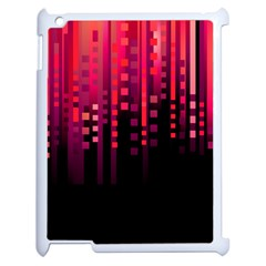 Line Vertical Plaid Light Black Red Purple Pink Sexy Apple iPad 2 Case (White)