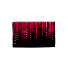 Line Vertical Plaid Light Black Red Purple Pink Sexy Cosmetic Bag (XS)